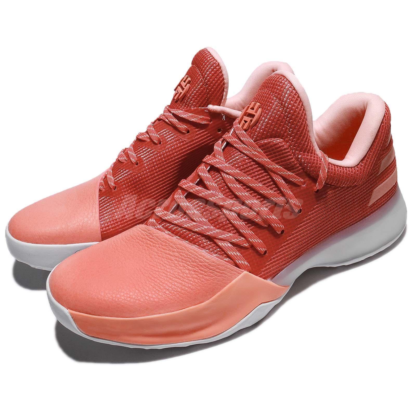 31589e409a7 adidas Harden Vol. 1 Chalk Coral Scarlet Two-Tone Men Basketball Shoes  AH2119