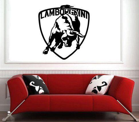 Lamborghini Logo Lambo Emblem Sport Car Wall Art Sticker Decal