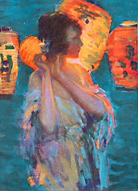 ☂ Paper Lanterns and Parasols ☂ Japonisme Art and Illustration - The Ladies Home Journal, June 1921