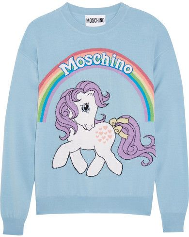 a18b55914d Moschino - My Little Pony Intarsia Wool Sweater - Blue | Style ...