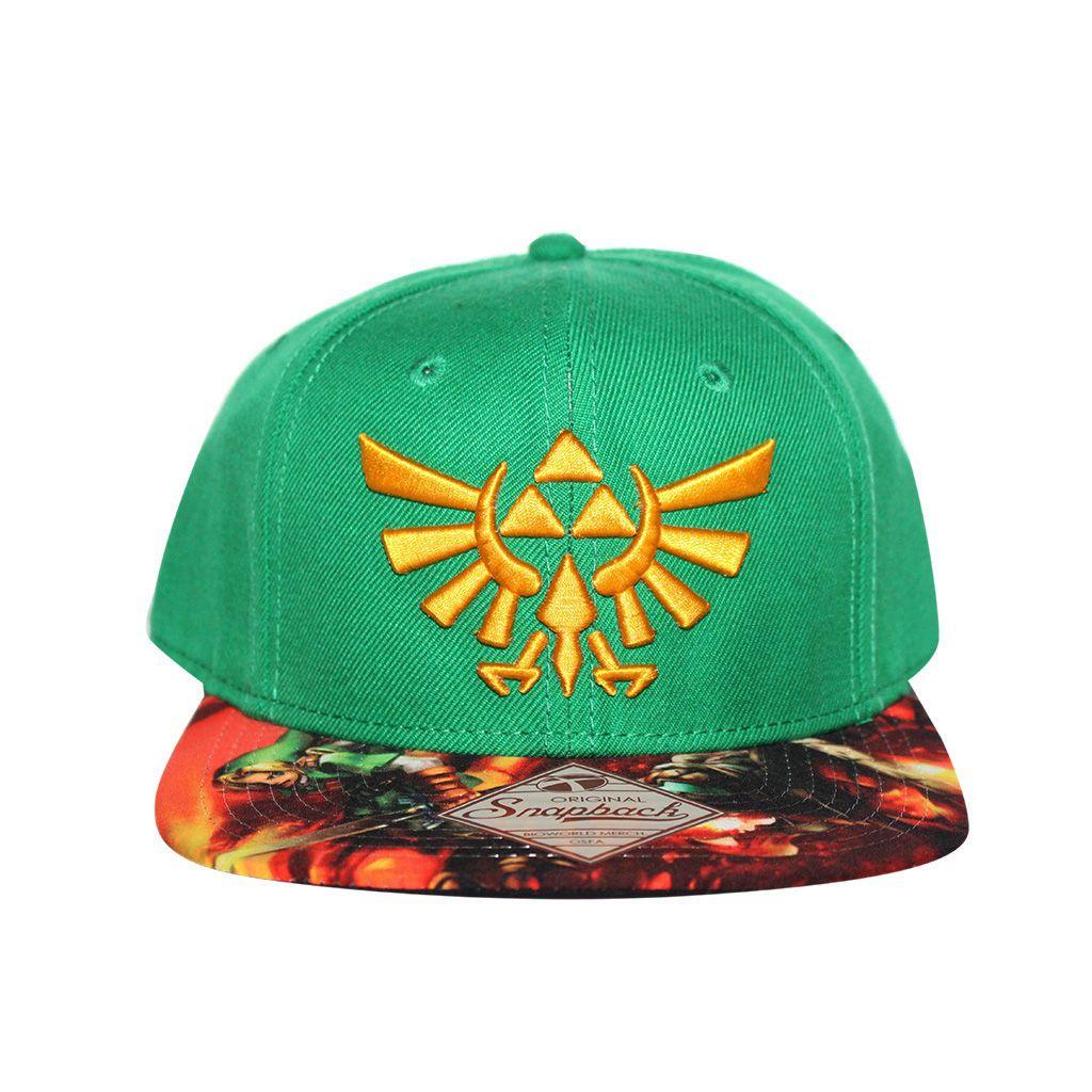 afff7c51958 Grab this Bioworld Licensed The Legend Of Zelda - Link Sublimated Brim  Snapback Hatt! Go