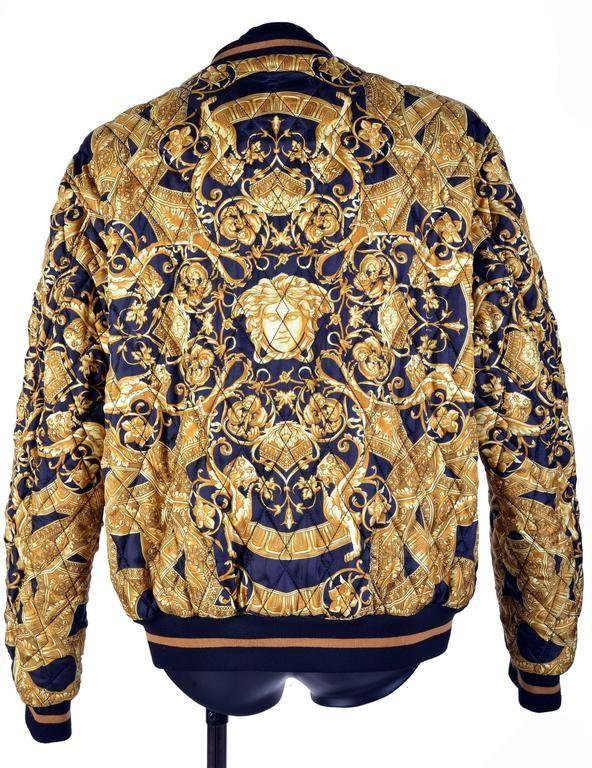 f1f41426316 REVESTIMENTO DE BANDEIRO DE SEDA QUILTED 2 Versace Silk Shirt