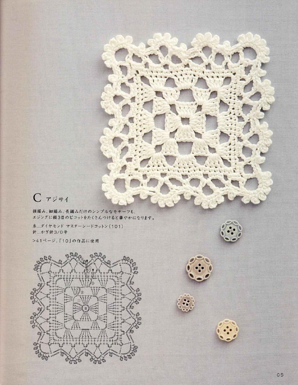 ISSUU - Crochet motif and edging by vlinderieke | узоры | Pinterest ...