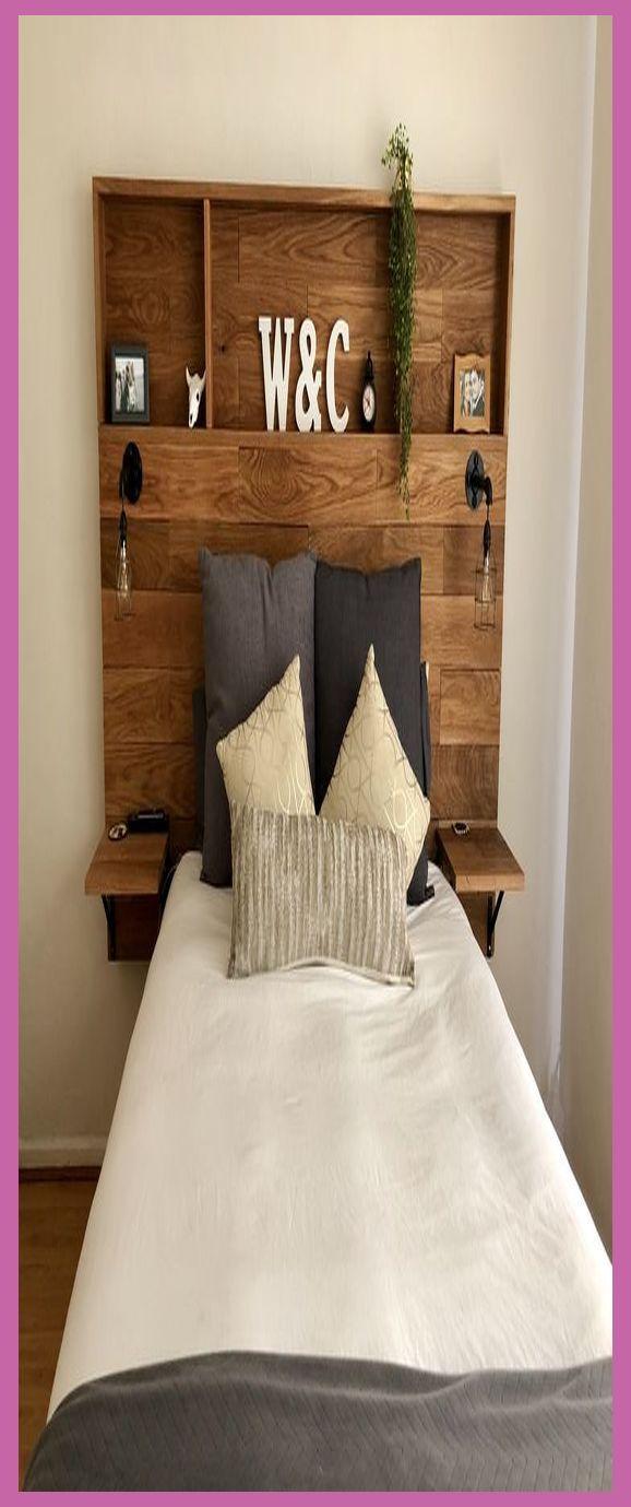Diy Wood Headboard With Storage >> DIY Wooden Headboard ...