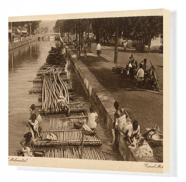 Canvas Print-Indonesia - Java - Jakarta - Molenvliet Canal-20