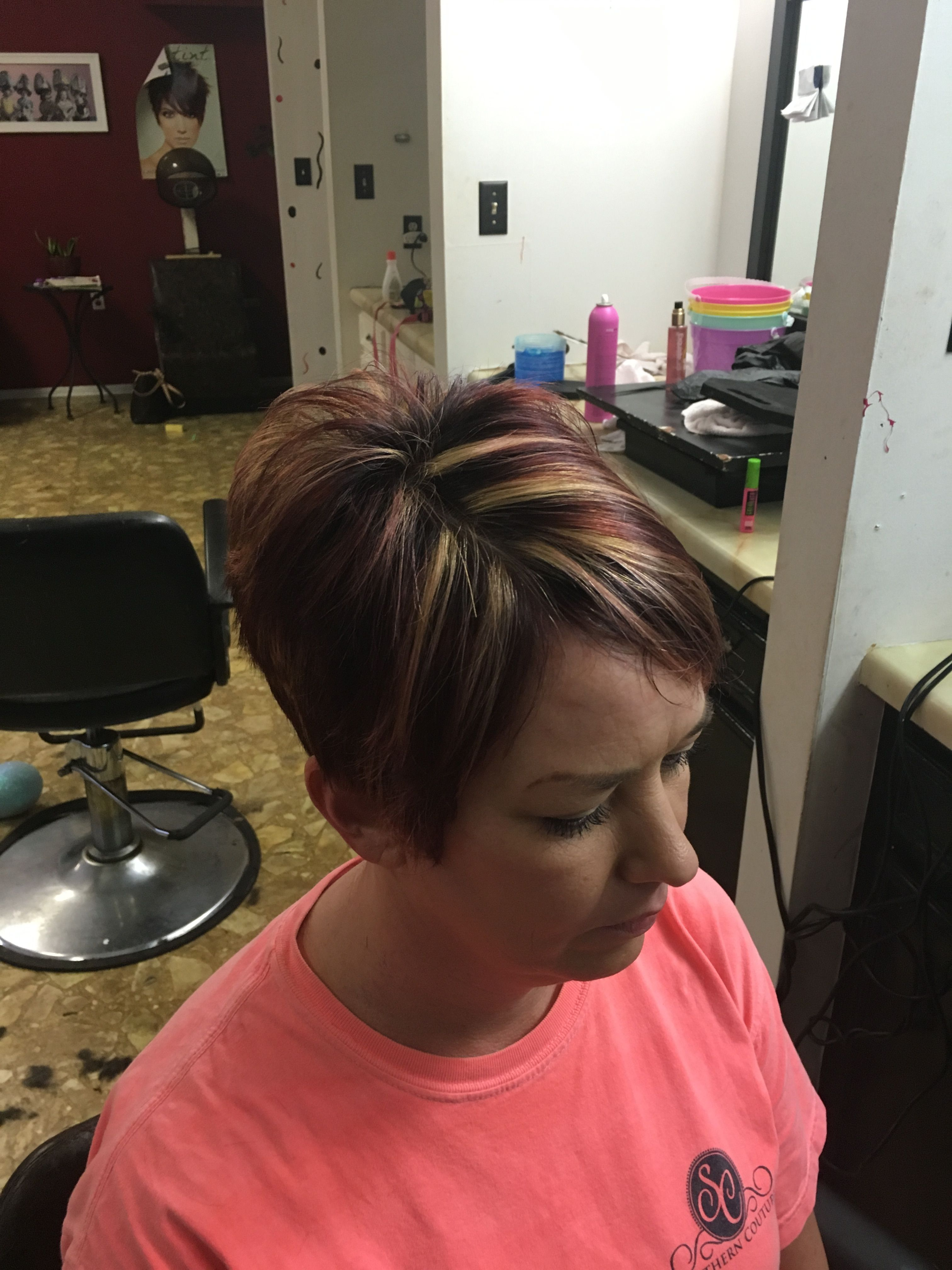 awesome stacked pixie cut and color @klazzyklipperz   hair