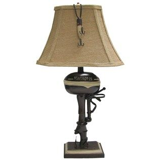 Hobby Lobby Lamp Shades Beauteous Boat Motor Table Lamp  Shop Hobby Lobby  Lake House  Pinterest Design Decoration