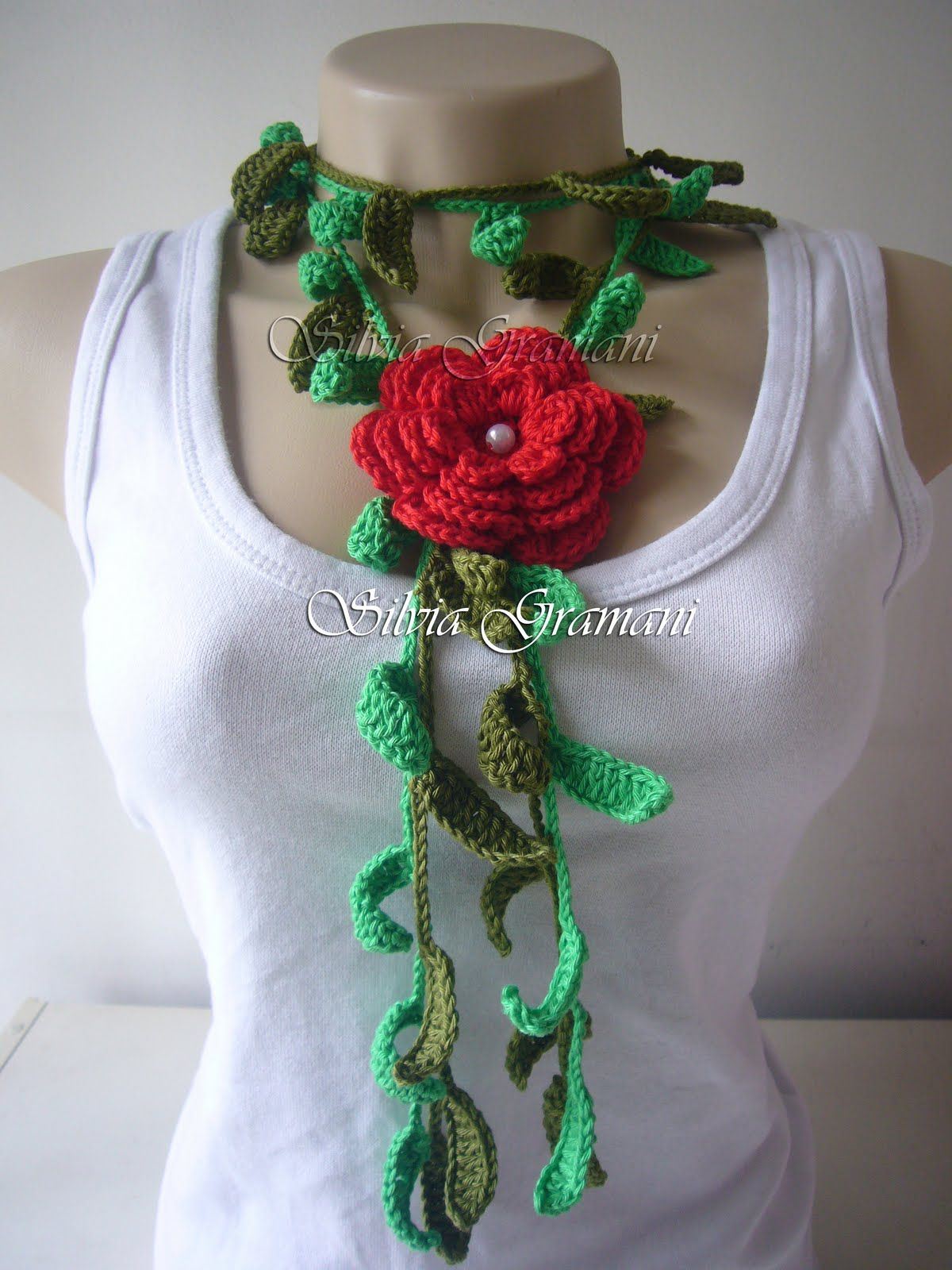 Silvia Gramani Crochê: Cordão de Croche Relva
