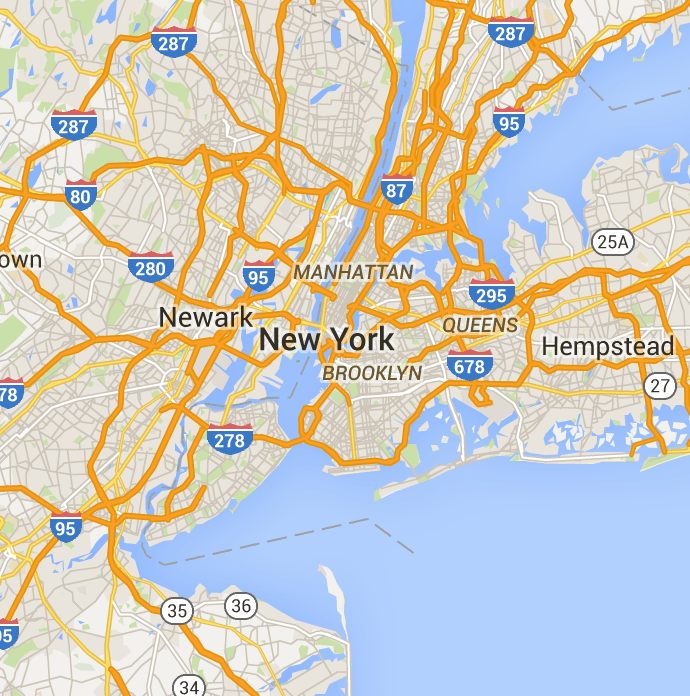 Map Of 287 New York.Man Vs Food New York Restaurant Listings Maps Locations Seen On