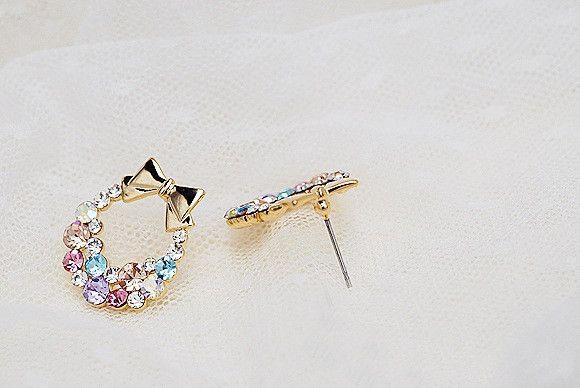 #Colorful #hark #earrings #Christmas #fashion for women