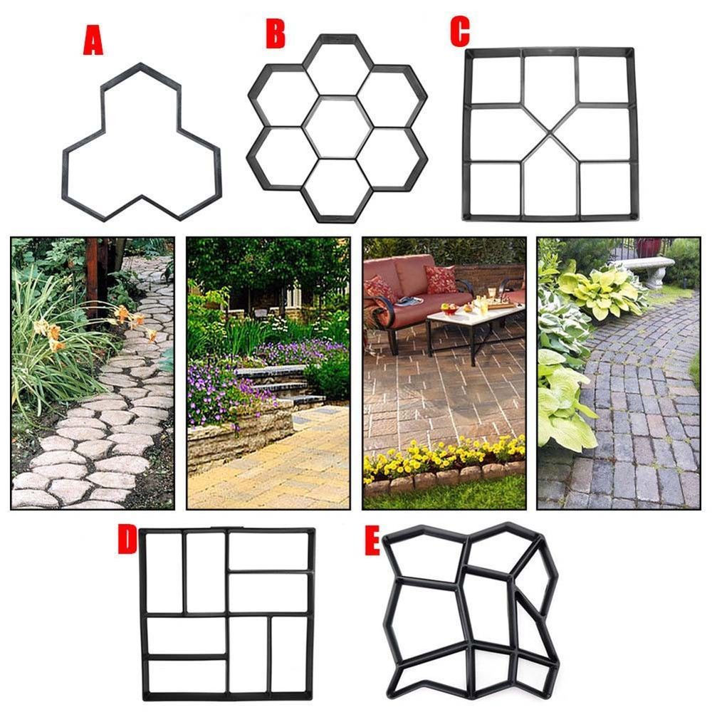 A Watter Mix Of Concrete For Concrete Golden Molds Is Used To Get Garden Stepping Stones With Ground X2f Lo Garden Paving Concrete Molds Diy Concrete Garden