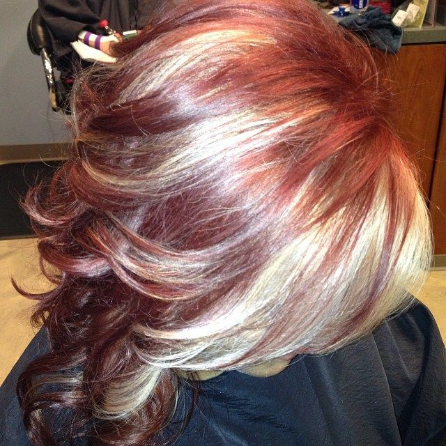 Gave My Client Bold Blonde Highlights Amp Colored Her Hair