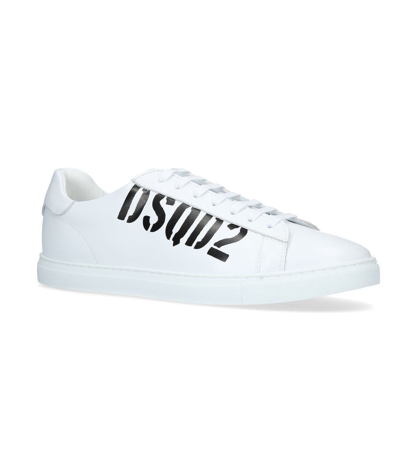 ee444d5bcf4 DSQUARED2 LEATHER LOGO SNEAKERS.  dsquared2  shoes