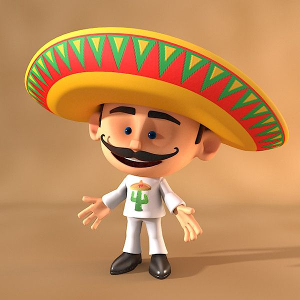 Cartoon Characters Mexican : Cartoon mexican d max mexico pinterest pear and