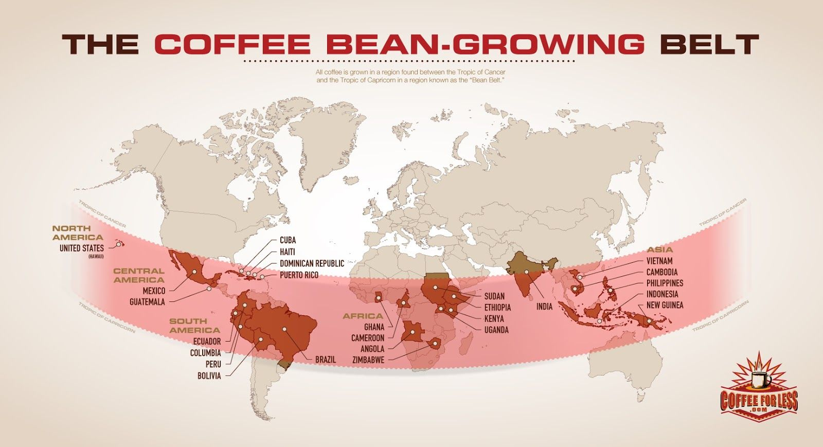 Coffee Map Example In 2020 Types Of Coffee Beans Coffee Beans Best Coffee Grinder