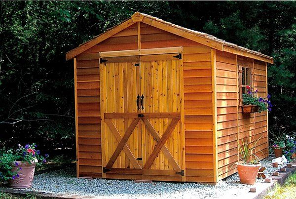 Best Cedarshed Rancher 8 Ft X 10 Ft Cedar Storage Shed 400 x 300