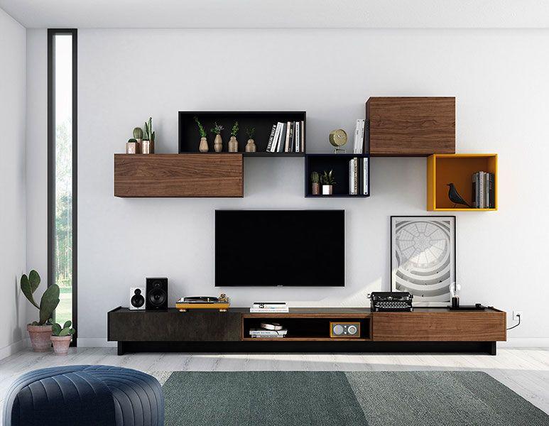 Ideas para salones modernos ideas de composiciones - Muebles capsir ...