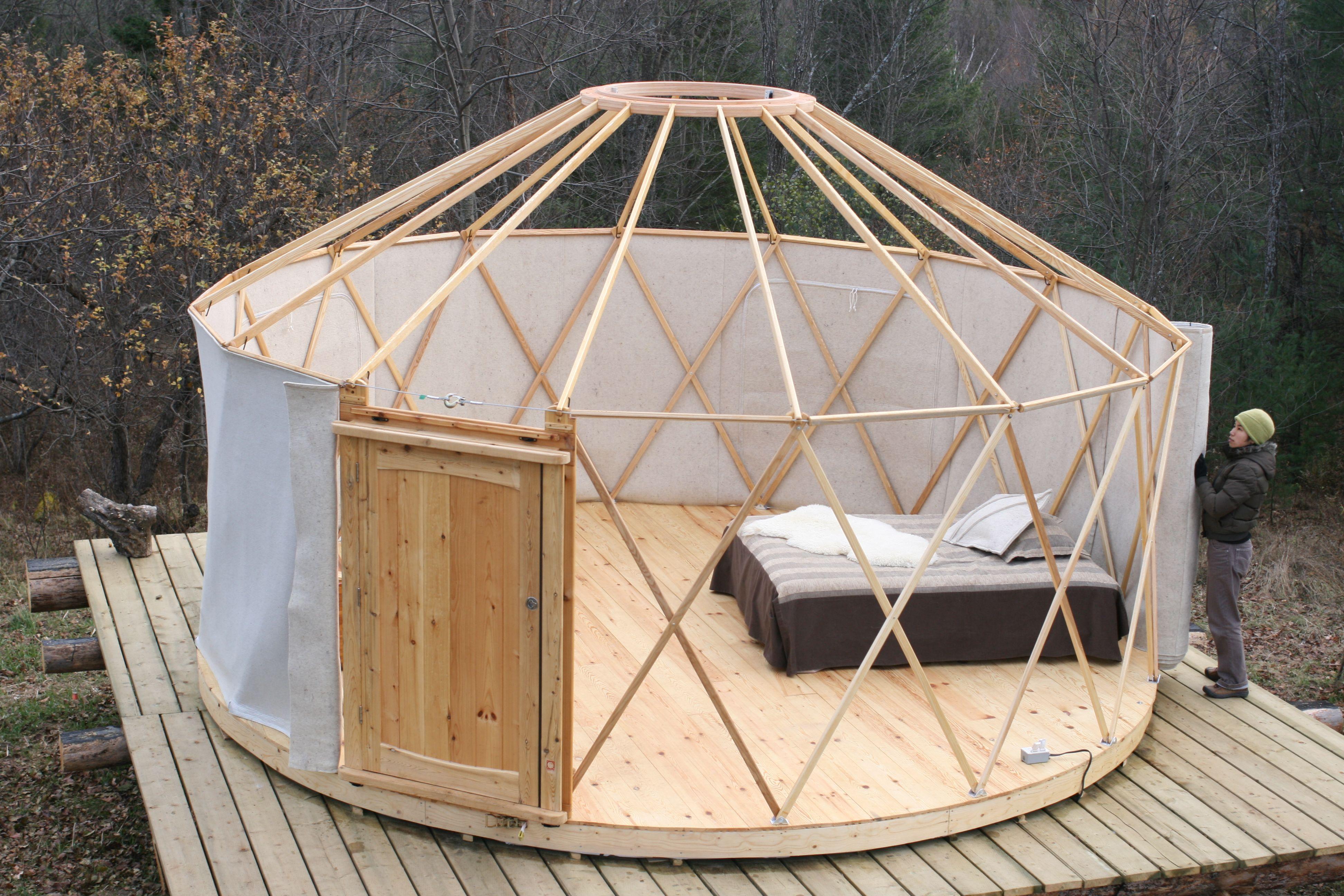 Yurts   Yurta, Casa yurta, Planos de casas de madera