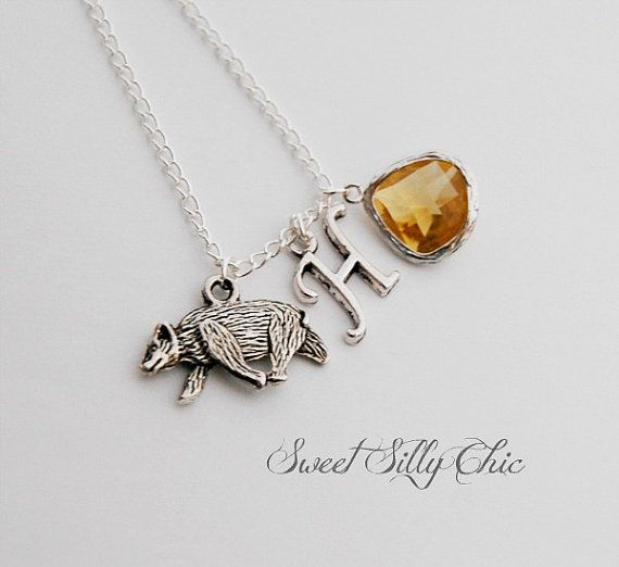 Hufflepuff Inspired Short Necklace Harry Potter by SweetSillyChic