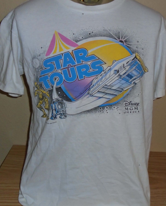 9ed424c2b vintage Star Tours Disney World t shirt MGM Studios size Large by  vintagerhino247 on Etsy