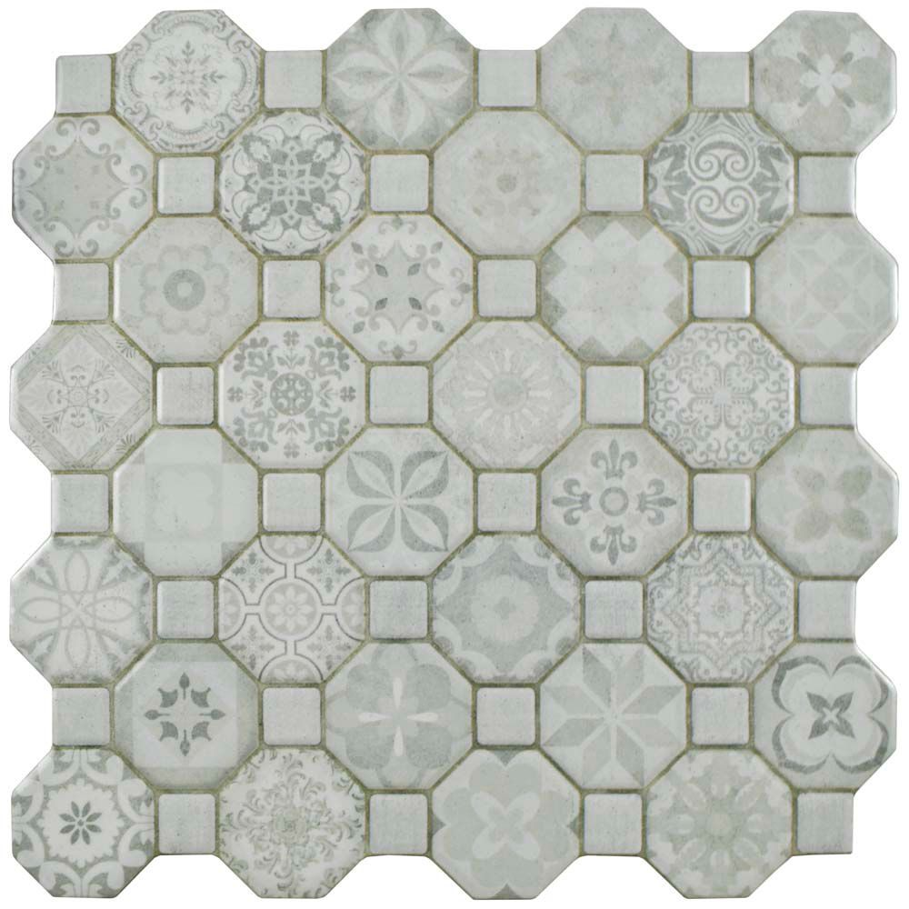 Tessera White 12 1 4 Inch X Ceramic Floor And Wall Tile 14 11 Sq Ft Case