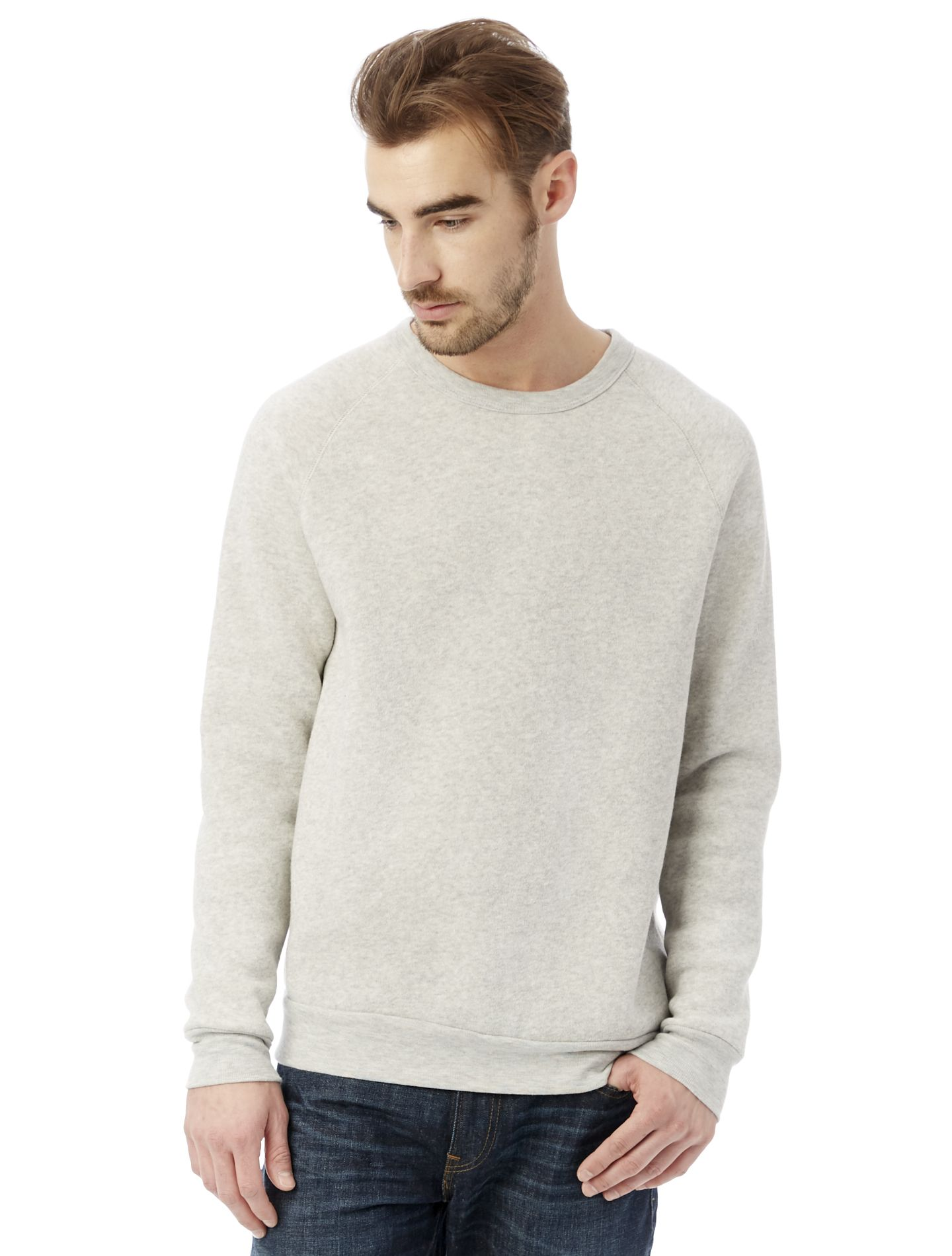 1052316fe2b7 Alternative Apparel  09575F2  Men  Champ Eco-Fleece Sweatshirt  Eco Oatmeal   1
