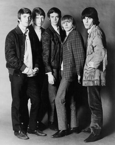 Rock band 'The Yardbirds' pose for a portrait in 1965 Jim McCarty Chris Dreja Paul SamwellSmith Keith Relf Jeff Beck
