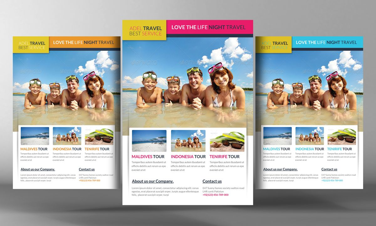 Travel Agency Marketing Flyer By Business Templates On Creative