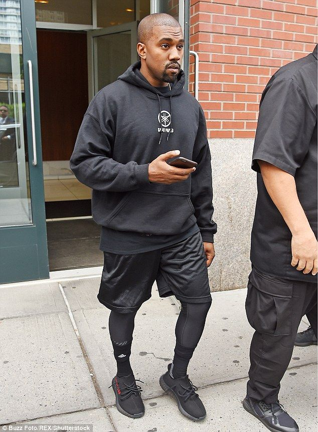 Kanye West in unreleased adidas Yeezy Boost