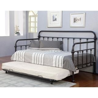 Giselle Antique Graceful Lines Iron Metal Daybed By Inspire Q Classic Metal Daybed Daybed With Trundle Furniture
