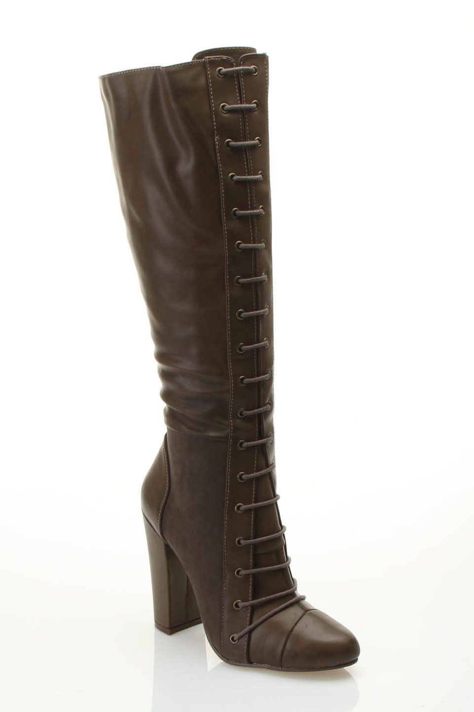 Michael Antonio Beck Lace Up Boot In Olive Beyond the