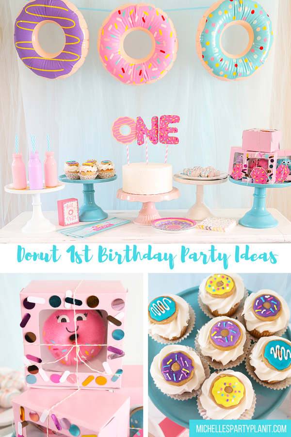 donut themed first birthday party idea first birthday party ideas