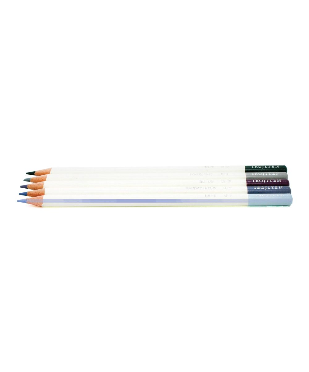 Gray scale waxbase colored pencils set of five