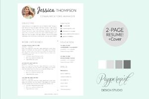 Resume Template  Cover Letter Word  Resume Design