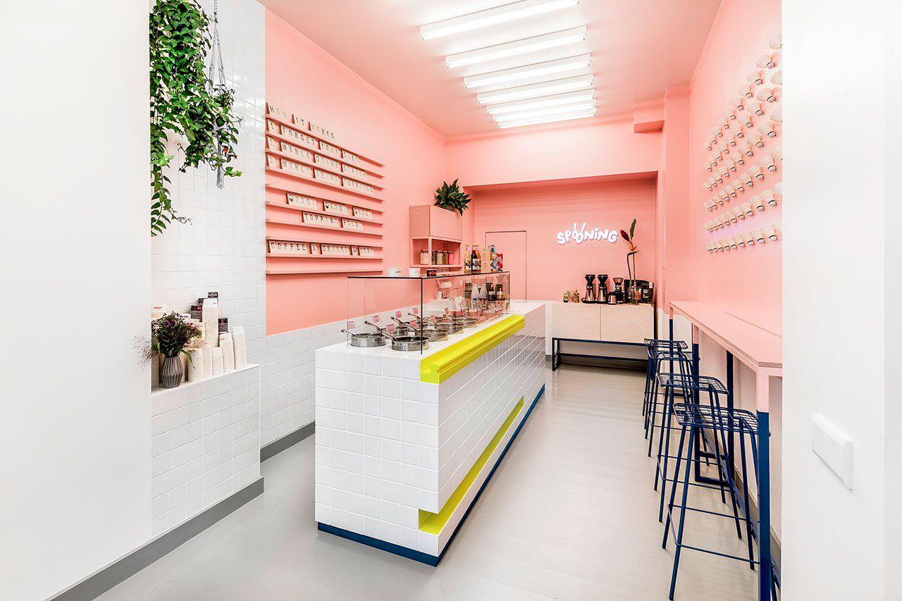 Sweet Childhood Memories Inspire Spooning Cookie Dough Bar In Berlin Home Coffee Stations Interior Design Retail Interior