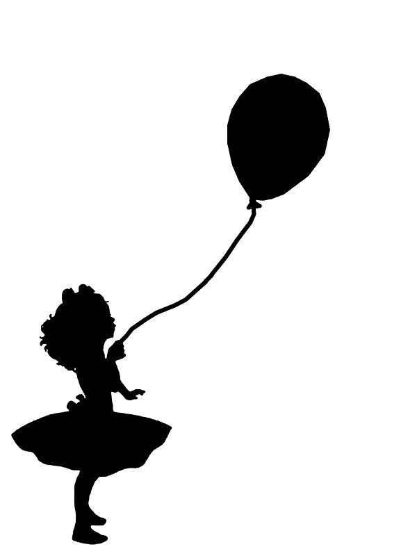 Girl Holding Balloon By Amy101