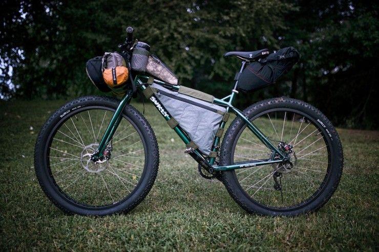 Surly Krampus - bikepacking, DIY Framebag, Revelate Seat Bag, OD Crank