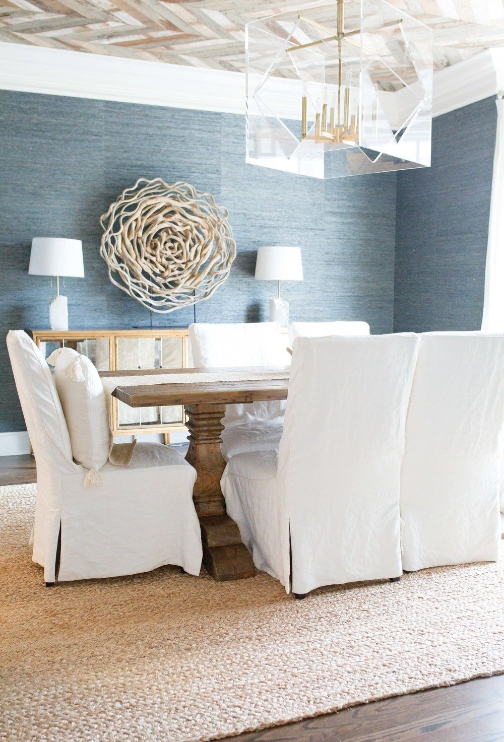 Grasscloth Dining Room Dining Room Living With Landyn