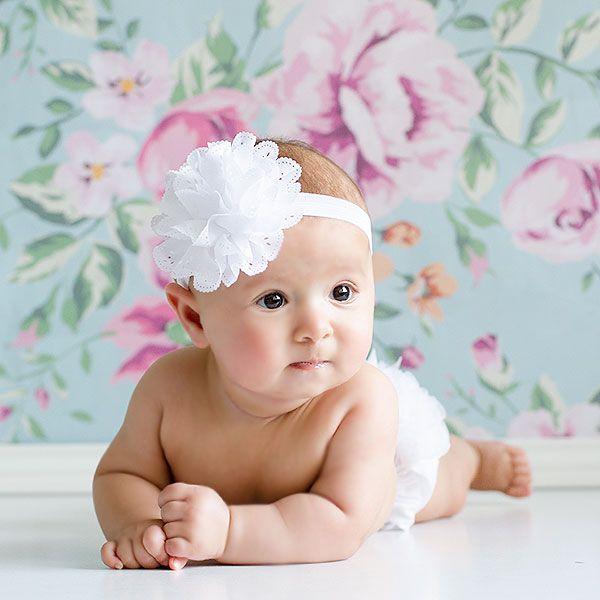 Cintas para bautizo diademas para beb s tocados para bebes para hacer fotos bonitas sesiones - Diademas para ninas ...