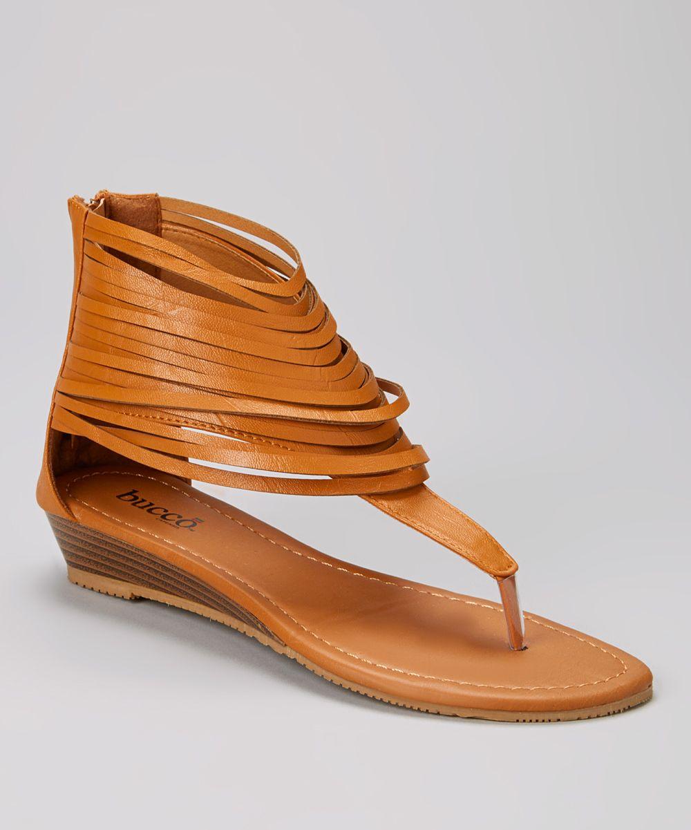 Tan Fringe Cutout Westwood Sandal » Awesome!