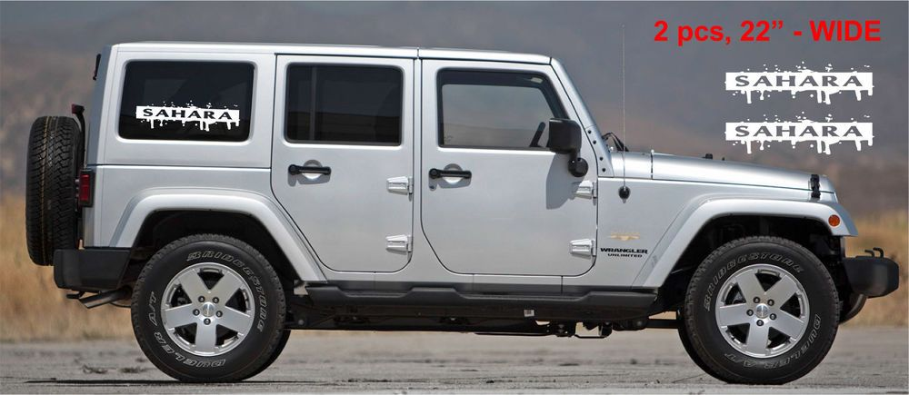 2pcs Sahara Splash Side Window Decal Sets Graphic Jeep Wrangler Rubicon Sahara Oracal Jeep Wrangler Rubicon Jeep Wrangler Wrangler Rubicon