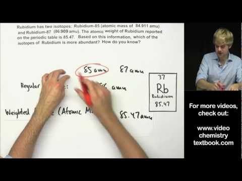 How to Calculate Atomic Mass Practice Problems - YouTube Teaching - new periodic table with atomic mass and isotopes