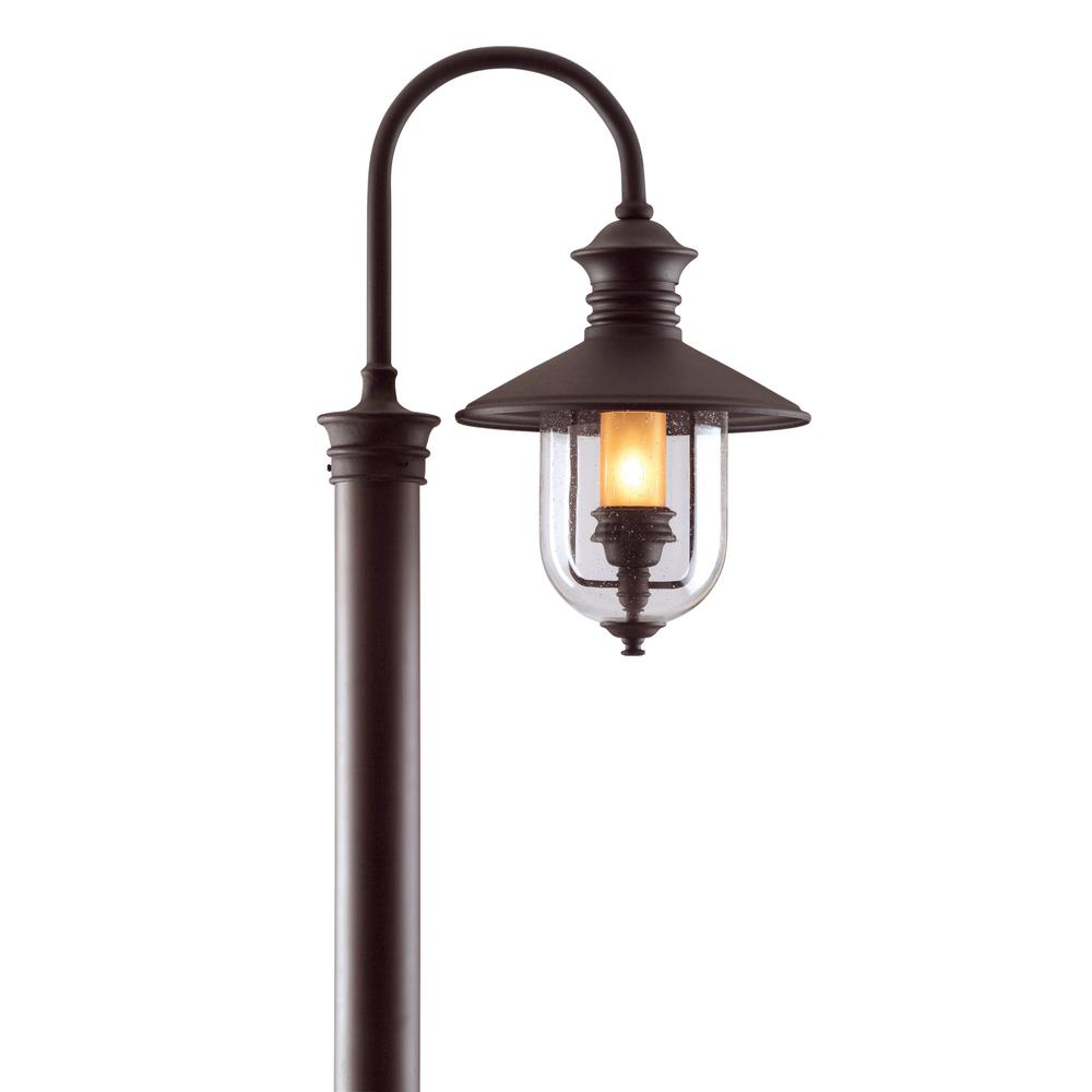 Troy Lighting Old Town Outdoor Natural Bronze Post Light P9364nb The Home Depot Post Lights Outdoor Post Lights Post Mount Lighting