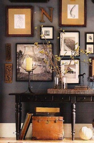 couleurs d 39 automne mur de cadres pinterest d coration automne nuances et feu. Black Bedroom Furniture Sets. Home Design Ideas