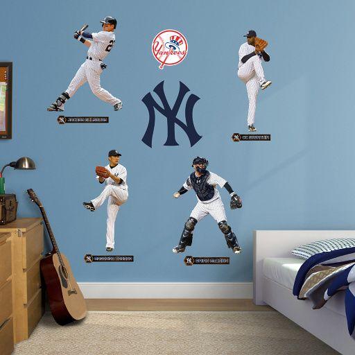 New York Yankees Power Pack Wall Decal Set Shop Fathead For New York Yankees Decor Wall Decals Yankee Room New York Yankees