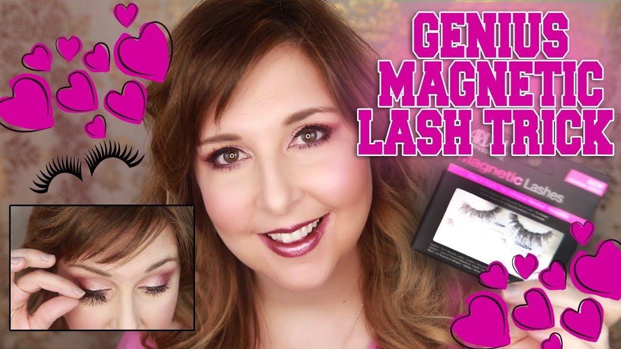 6d2ed0b1ed6 GENIUS Magnetic Lash Trick!! Ardell Magnetic Lashes hack - YouTube ...
