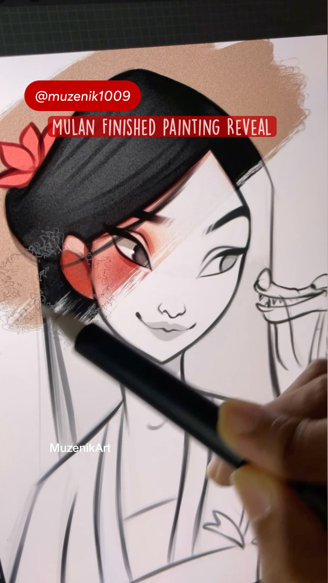 Mulan Finished Painting Reveal