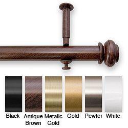 Hang it from the ceiling for a new look--@Overstock - Update your home decor with a new decorative curtain rod set  Curtain hardware is adjustable from 48 inches to 90 inches long  Set includes adjustable pole, finials and mounting bracketshttp://www.overstock.com/Home-Garden/Bold-Pole-48-to-90-inch-Adjustable-Curtain-Rod-Set/4224988/product.html?CID=214117 $40.24