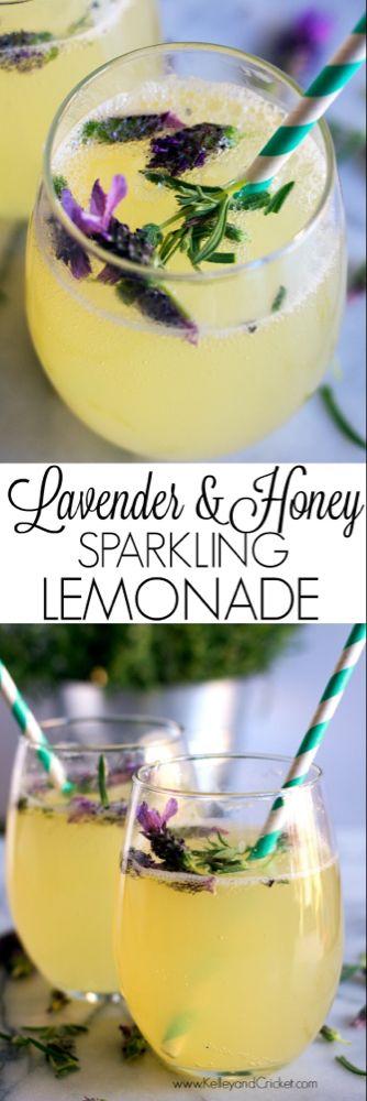 Lavender & Honey Sparkling Lemonade - Kelley and Cricket