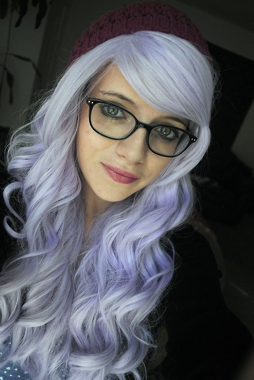 a gorgeous pastel lavender hair color looks so good on her don 39 t change it food hair. Black Bedroom Furniture Sets. Home Design Ideas